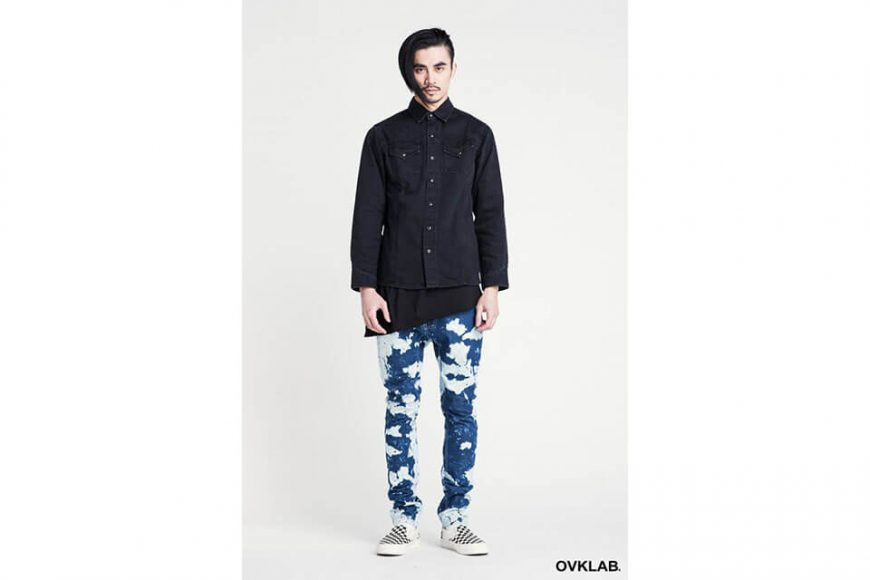 Ovklab 16 SS Dyed Denim Shirt (2)
