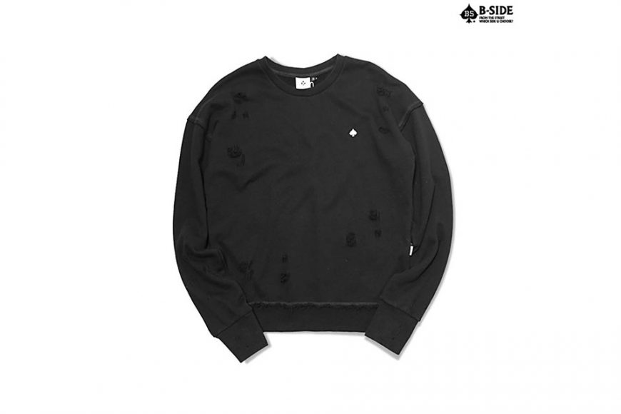 B-Side 16 FW BS Ripped Crewneck (2)