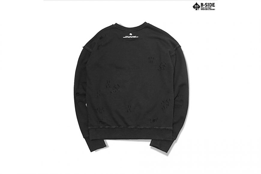 B-Side 16 FW BS Ripped Crewneck (3)