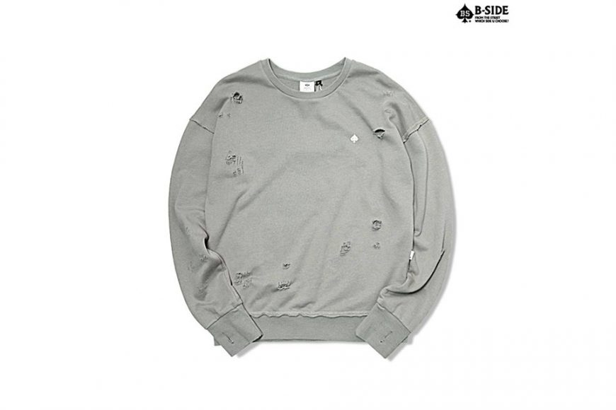 B-Side 16 FW BS Ripped Crewneck (9)