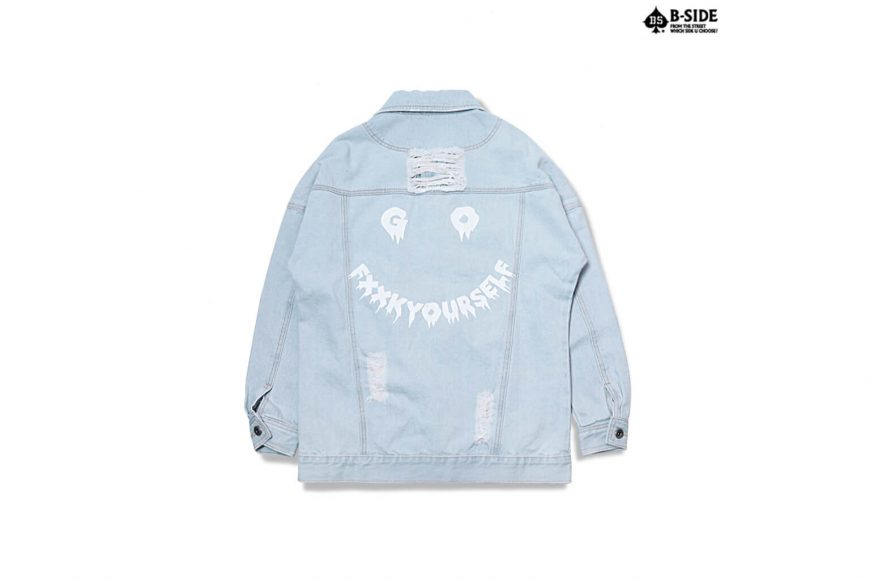 B-Side 16 FW Go Fxxk You Urself Denim JKT (9)