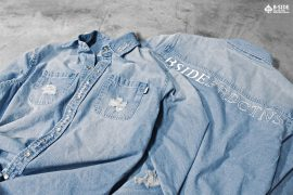 B-Side 16 SS Bspd Washed Denim Shirt (1)