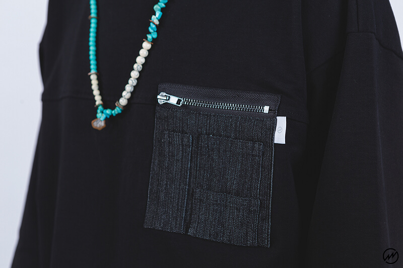 Mania 16 SS Denim Pocket 34 Sleeve Tee (2)