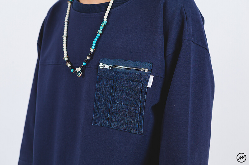 Mania 16 SS Denim Pocket 34 Sleeve Tee (6)