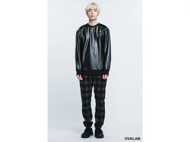 OVKLAB 16 AW Metallic Leather Sweashirt (1)