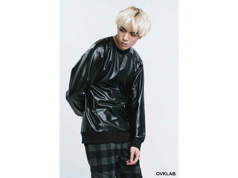 OVKLAB 16 AW Metallic Leather Sweashirt (3)