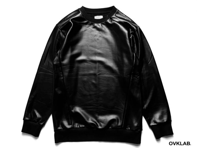 OVKLAB 16 AW Metallic Leather Sweashirt (4)