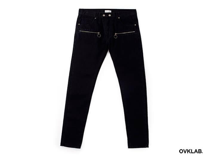 OVKLAB 17 SS Zipper Skinny Denim Jeans (5)