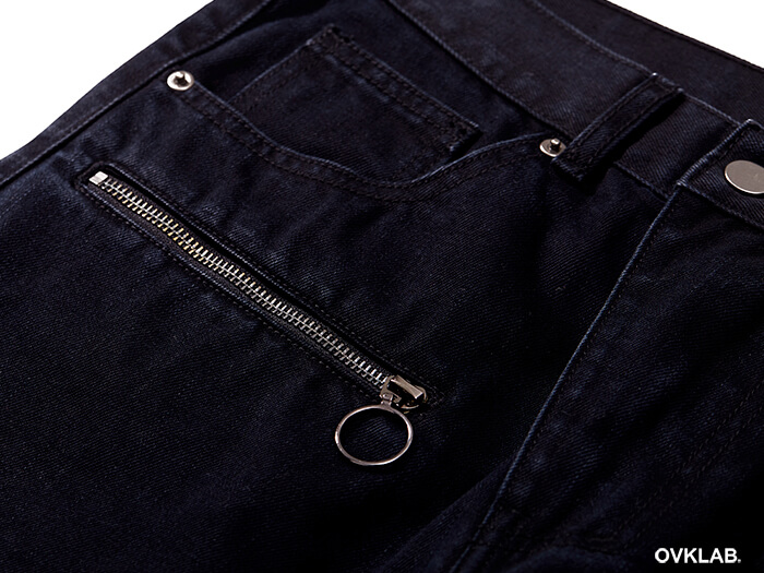 OVKLAB 17 SS Zipper Skinny Denim Jeans (8)