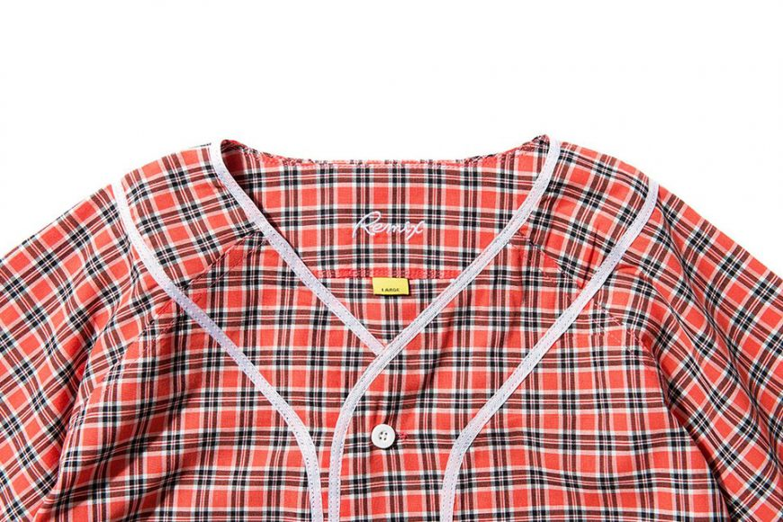 Remix 16 SS Plaid Baseball Shirt (4)