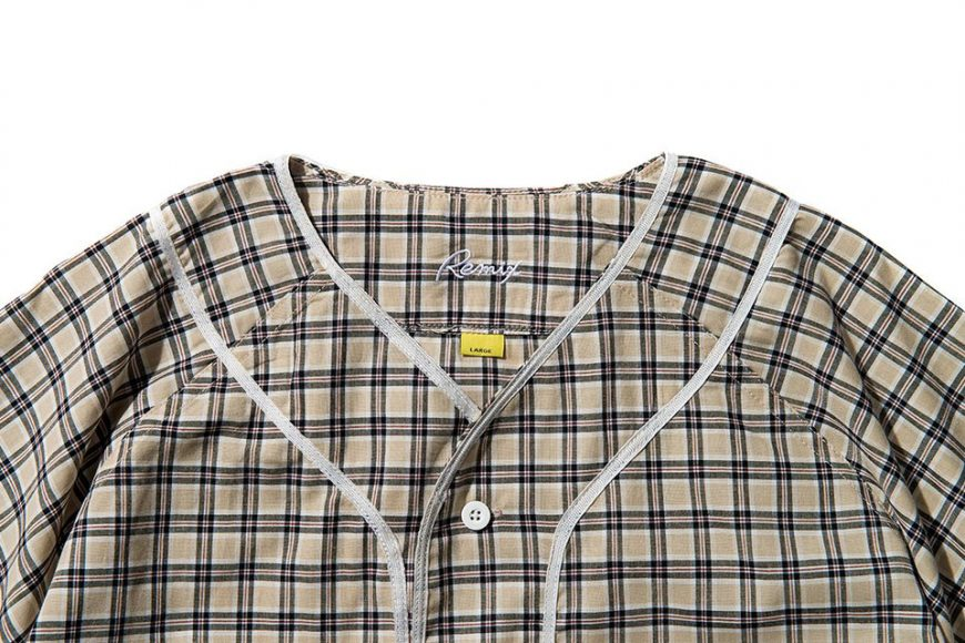 Remix 16 SS Plaid Baseball Shirt (9)