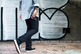 Remix 16 SS Rsd Black Denim Stretch Jeans (1)