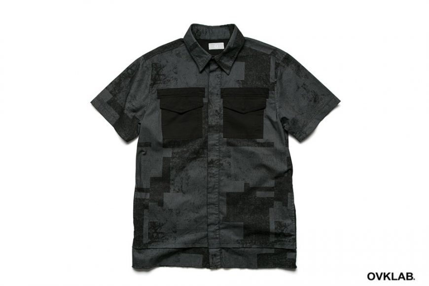 OVKLAB 16 SS Patch Pattern Army Shirt (11)