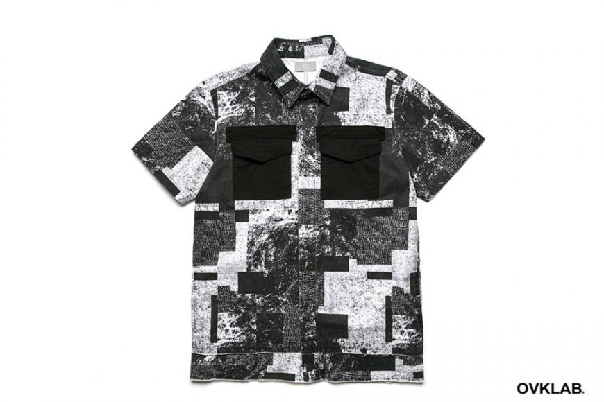 OVKLAB 16 SS Patch Pattern Army Shirt (12)