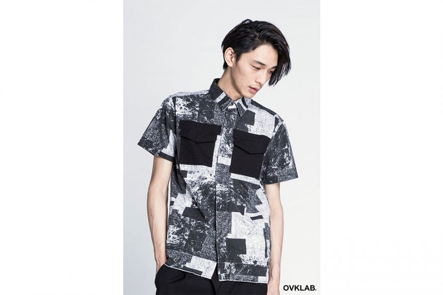 OVKLAB 16 SS Patch Pattern Army Shirt (8)