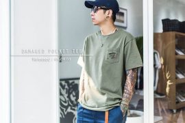 Remix 16 SS Damaged Pocket Tee (1)