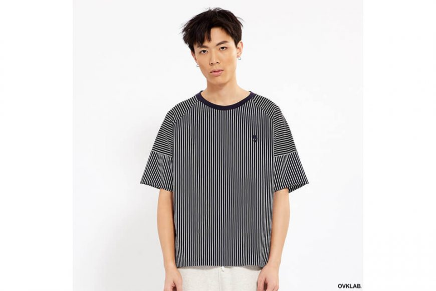 OVKLAB 17 SS Striped Patchwork Oversize Tee (2)