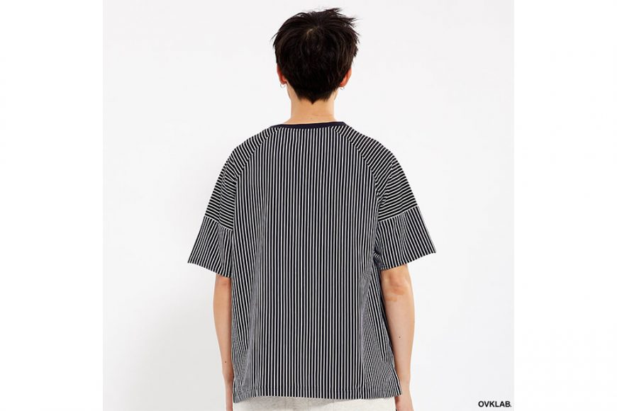 OVKLAB 17 SS Striped Patchwork Oversize Tee (3)