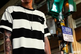 B-SIDE 17 SS 219 Stripe Tee (1)