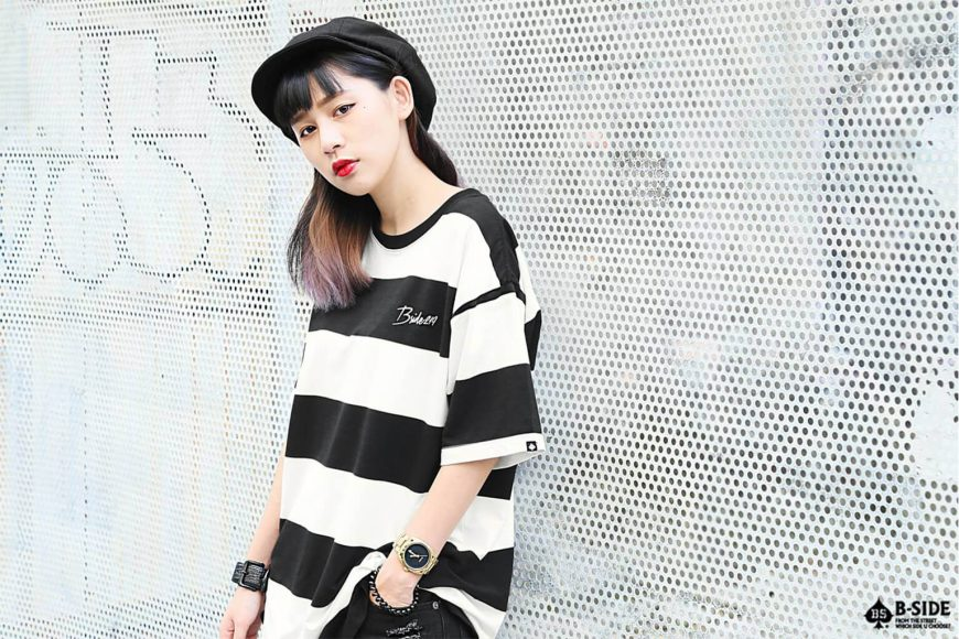 B-SIDE 17 SS 219 Stripe Tee (2)