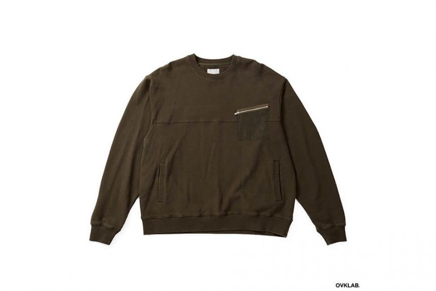 OVKLAB 17 AW Military Pocket Sweatshirt (7)