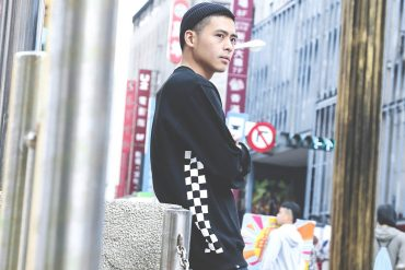 B-SIDE 17 AW Checked Crewneck Sweater (1)