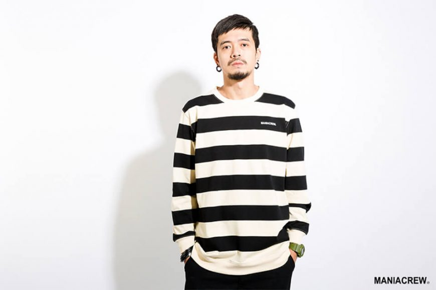 MANIA 17 AW Wide Stripe Sweatshirt (1)