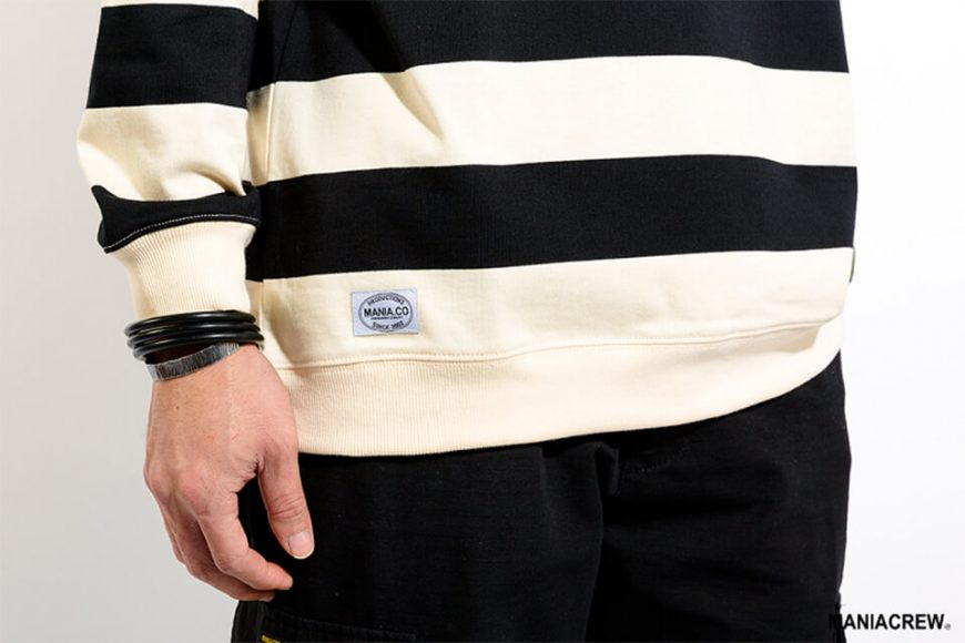 MANIA 17 AW Wide Stripe Sweatshirt (2)