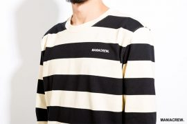 MANIA 17 AW Wide Stripe Sweatshirt (3)