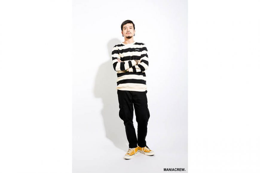 MANIA 17 AW Wide Stripe Sweatshirt (9)