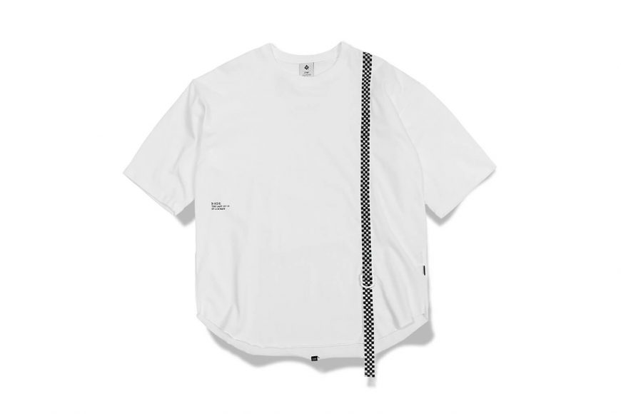 B-SIDE 17 AW Checked Woven Tape Tee (4)