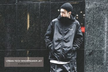 B-SIDE 17 AW Urban-Tech Windbreaker JKT (1)