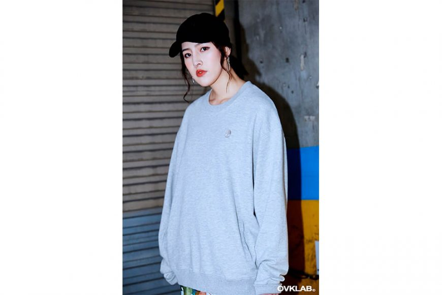 OVKLAB 17 AW Washed Basic Logo Sweatshirt (2)