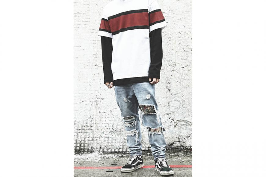 B-SIDE 18 SS Wide Stripe Tee (2)