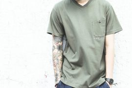 B-SIDE 727(五)發售 18 SS Slanting Pocket V Neck Tee (3)