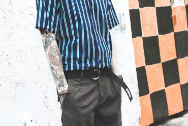 B-SIDE 18 SS 2 Tone Stripe Shirt (1)