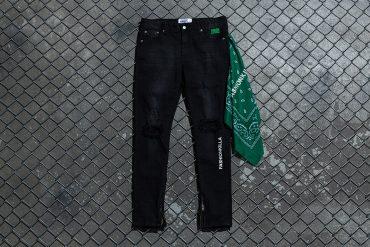 NextMobRiot 98(六)發售 18 SS NMR15th x FASHION KILLA Damage Paisley Denim Pants (1)