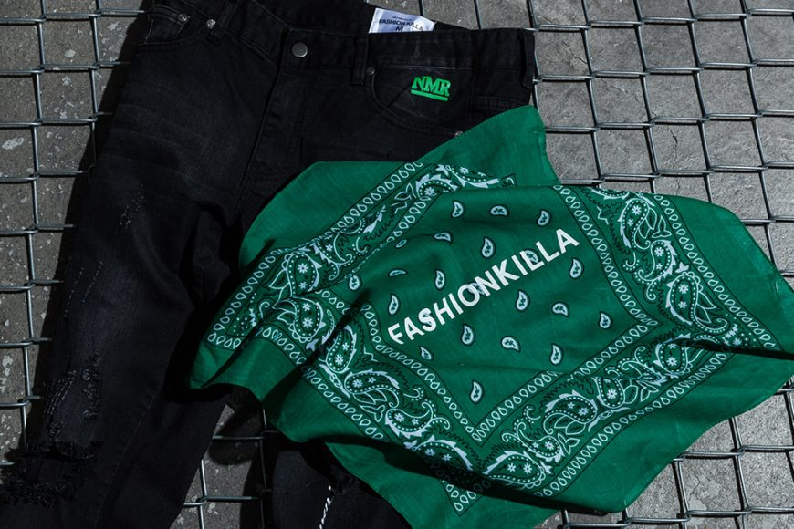 NextMobRiot 98(六)發售 18 SS NMR15th x FASHION KILLA Damage Paisley Denim Pants (3)