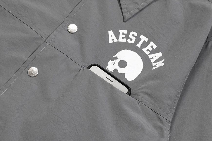 AES 1027(六)發售 18 AW Aes Skull Logo Coach Jacket (8)