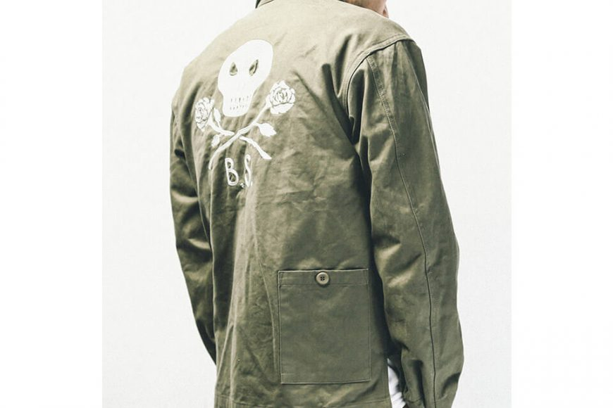 B-SIDE 1017(三)發售 18 AW Death Rose Field Shirt (8)