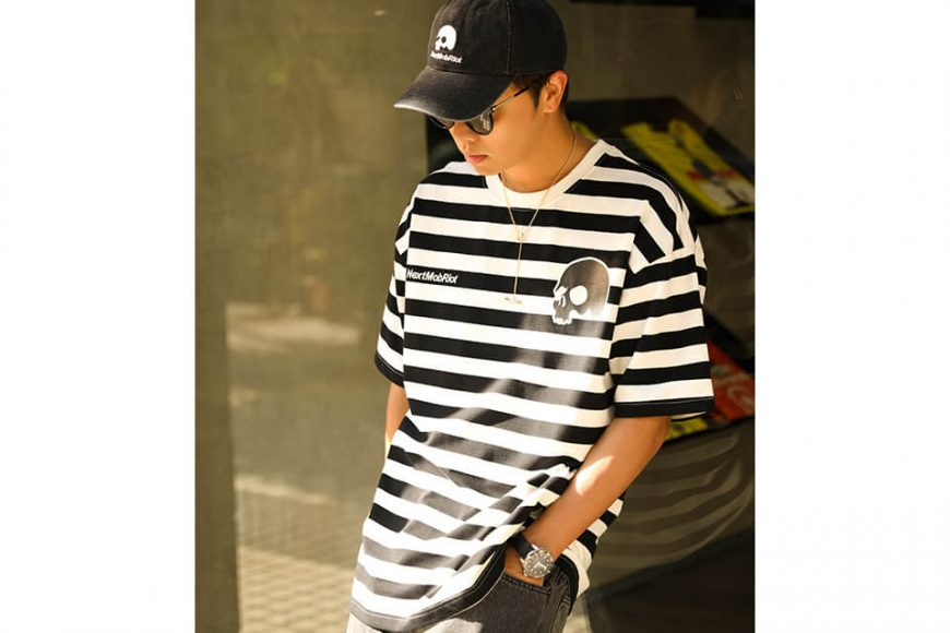 NextMobRiot 106(六)發售 18 SS NMR15th x AES Stripe Oversize Tee (1)