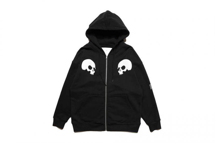 AES 1110(六)發售 18 AW Aes Doule Skull Logo Zip Hoodie (3)
