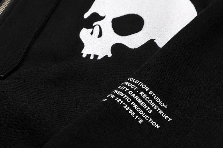 AES 1110(六)發售 18 AW Aes Doule Skull Logo Zip Hoodie (5)