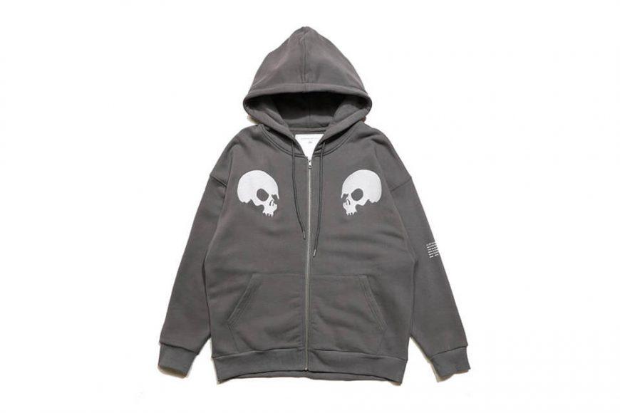 AES 1110(六)發售 18 AW Aes Doule Skull Logo Zip Hoodie (7)