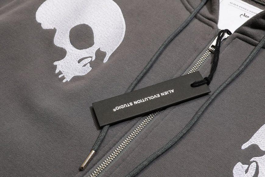 AES 1110(六)發售 18 AW Aes Doule Skull Logo Zip Hoodie (9)