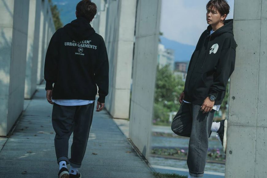 AES 1110(六)發售 18 AW Aes Washed Skull Logo Hoodie (1)