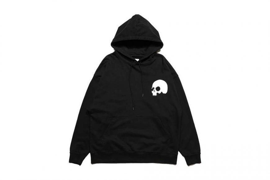 AES 1110(六)發售 18 AW Aes Washed Skull Logo Hoodie (2)