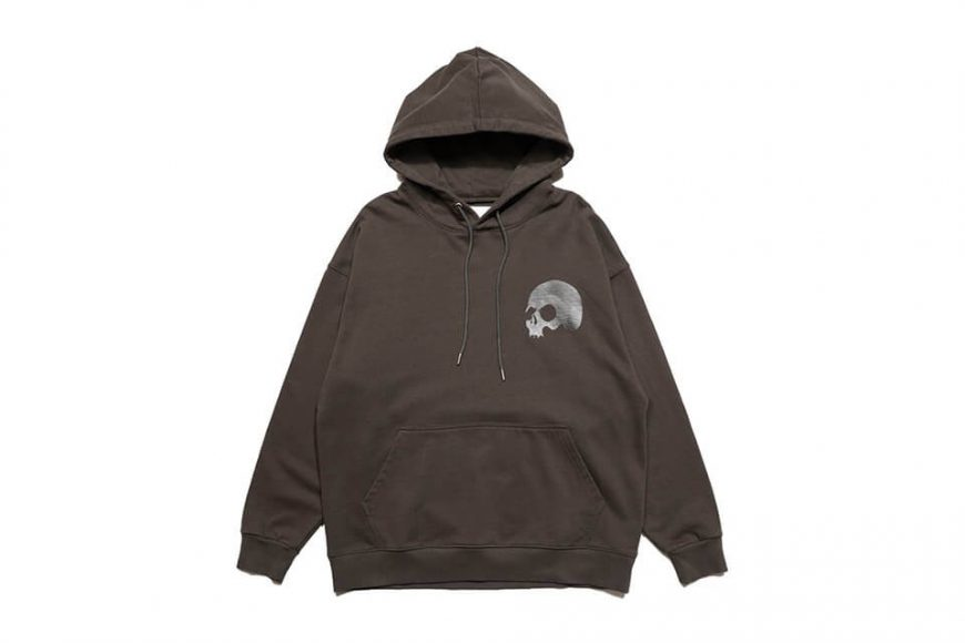 AES 1110(六)發售 18 AW Aes Washed Skull Logo Hoodie (5)
