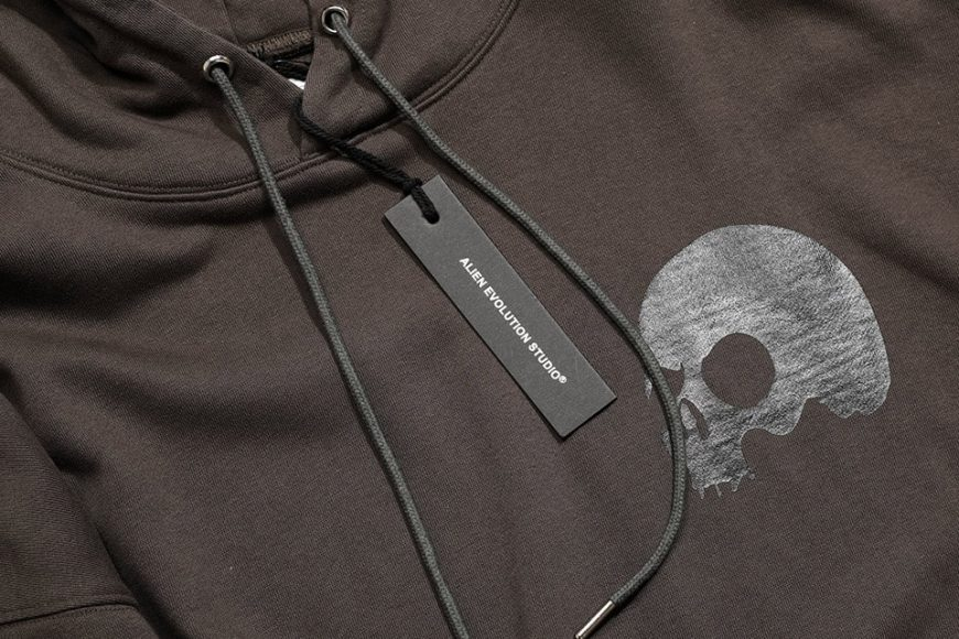 AES 1110(六)發售 18 AW Aes Washed Skull Logo Hoodie (7)