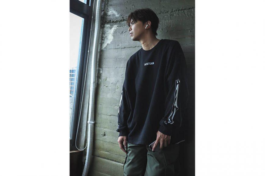 AES 121(六)發售 18 AW Aes Bones Sweatshirt (1)